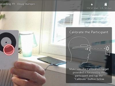 Windows Tablet App for Eye Tracker Glasses