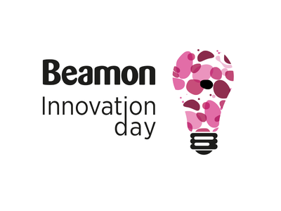 Innovation day innovation day spots colourful lightbulb logo