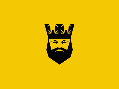 Logo for the King logo bold yellow king