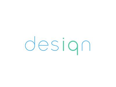 Desiqn - coloured version sans serif minimalistic coloured logotype iq logo design agency