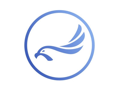 Merlin (Falcon) Logo brand gradient flat minimalistic logo merlin falcon