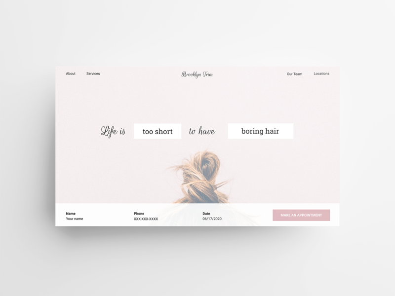 Daily UI #003- Landing Page user experience daily ui 003 digital design ux design user centered design user experience ux