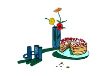 cake digital illustration