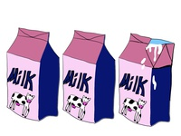 milks digital illustration