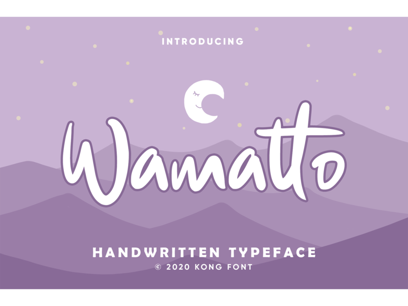 Wamatto Font typeface rough font design font kids cute logotype branding fonts font display wamatto
