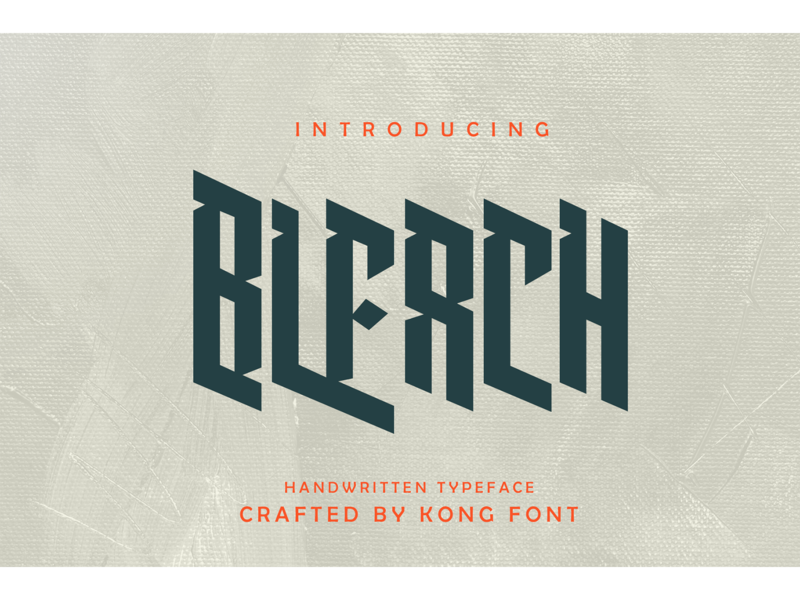 Bleach Font landmark fontdesign logotype branding fonts font decorative display bleach