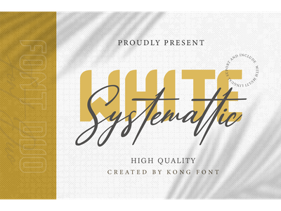 White Systemattic Font Duo foundry cosmetic hand drawn handwritten logotype branding script display systemattic white