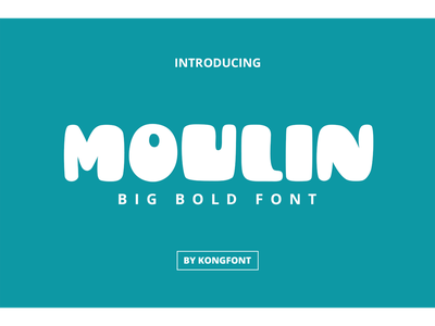 Moulin Font decorative logotype bold branding fancy display font moulin