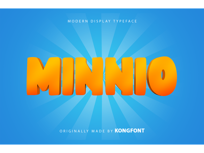 Minnio Font fonts font branding birthday invitation bold cute display minnio