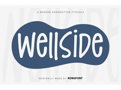 Wellside Font display logotype branding handwritten font oblique italic wellside