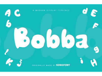 Bobba Font decorative cartoon fancy logotype branding modern display font bobba