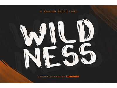 Wildness Font handdrawn decorative display logotype branding font brush modern