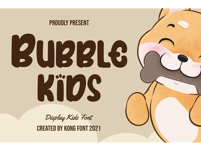 Bubble Kids Font decorative logotype branding kids fancy cartoon font display bubble kids