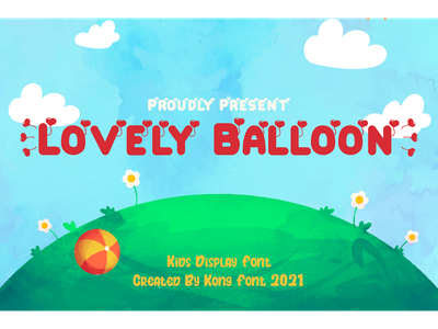 Lovely Balloon Font decorative logotype branding kids fancy cartoon font display lovely balloon