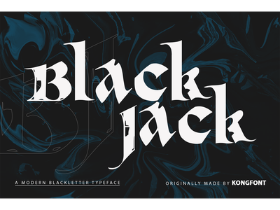 Black Jack Font logotype branding decorative display blackletter font black jack