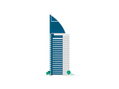 Antel Tower vector flat building
