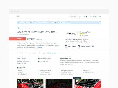 Car profile profile ecommerce webdesign ui flat