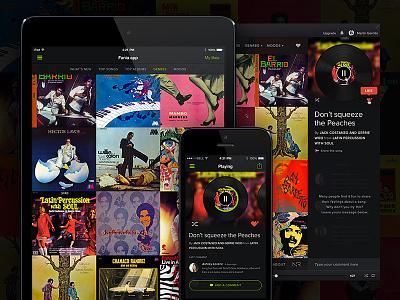 Fania app spotify design webapp