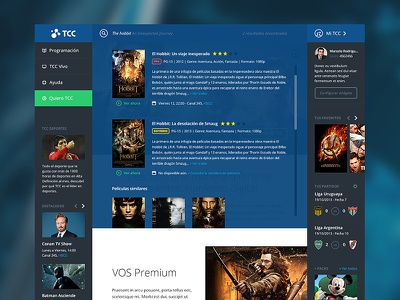 CableTV Homepage homepage flat design cabletv