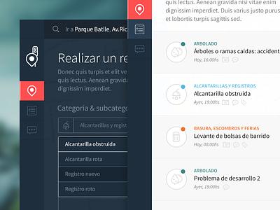 Reporting (wip) app ui webapp design flat webdesign web responsive report sidebar
