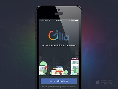 Glia - Available on App Store now! app ui design flat illustration neonroots