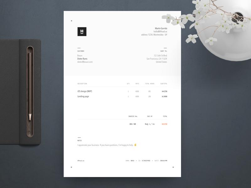 Invoice Design 2016 a4 design graphic invoice