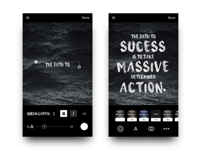 Photo Interface Proposal black white iphone interface photo android ios flat app ux ui dark