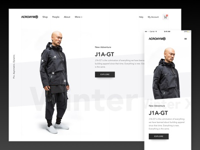 Acronym Redesign Exploration redesign tech fashion homescreen design interface webdesign website dark ui ux