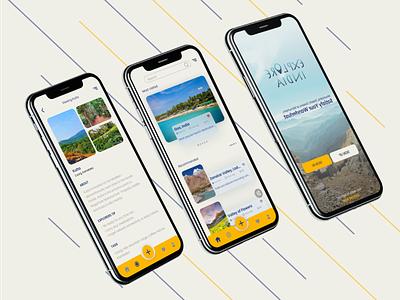 Explore India Concept App UX Case Study affinity photo affinity designer ui design ux design challenge website app design app ux