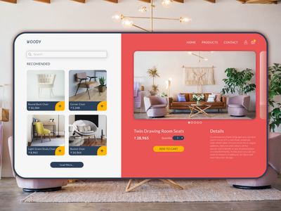 Concept Online Furniture Store - UI Design branding logo affinity designer freelancer website ux design app design app ui design ux