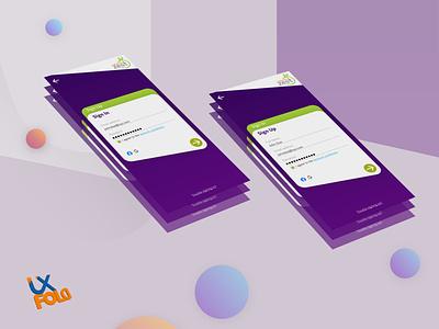 Daily UI 001 Sign Up Page website ux illustrator flat minimal design app vector ui illustration