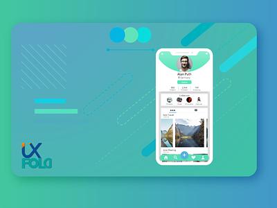User Profile Daily UI concept flat ui user profile xd challenge app design design dailyui app ux illustrator