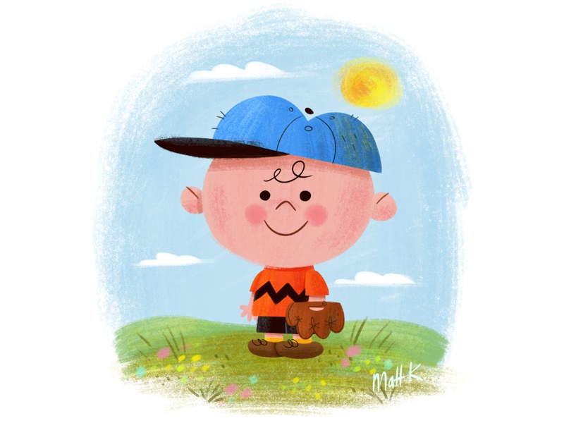 Charlie Brown peanuts charles schulz cartoon comic strip kid baseball illustration