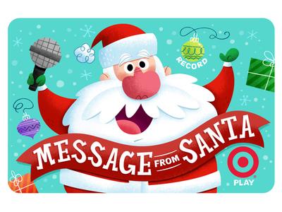 Target Gift Card target gift card holiday christmas illustration santa