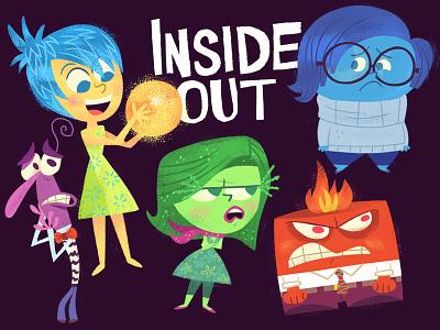Inside Out character design art illustration animation pixar disney inside out