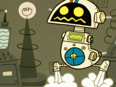 H.E.R.B.I.E comic fantastic four robot retro cartoon animation illustration science