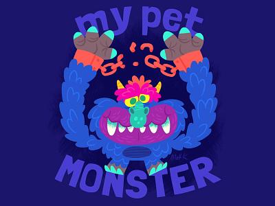 My Pet Monster plush pet monster illustration cartoon toys 80s