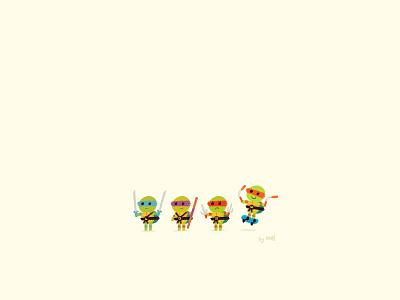 Teeny Mutant Ninja Turtles illustration animation cartoon ninja turtles tmnt