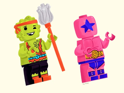 Lego Minifigures illustration toy minifigure lego nintendo