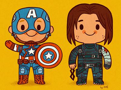 Best Friends Forever avengers illustration comics marvel winter soldier bucky captain america