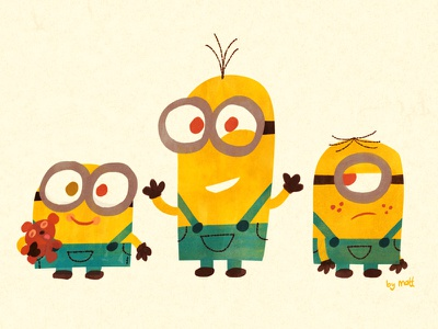 Minions illustration minions character design animation