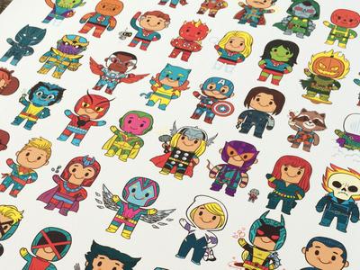 Little Heroes Print