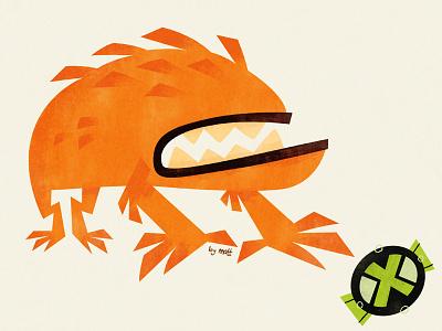 Wildmutt alien monster illustration cartoon animation ben 10