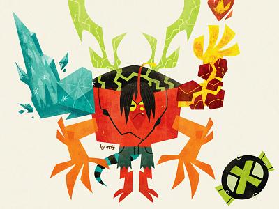 Kevin 11 alien monster illustration cartoon animation ben 10