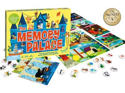 Memory Palace peaceable kingdom animals monster castle illustration board game game
