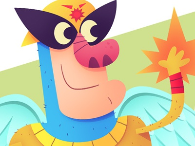 Harvey Birdman adult swim alex toth cartoon illustration comic superhero retro