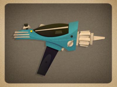 Weapon 05 star trek phaser epicweaponry kirk retro cartoon illustration gun epicarmory