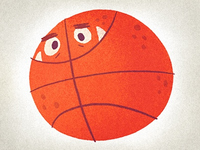 Monsterball - Winfield basketball monster cartoon illustration sports dribble happy monsterball