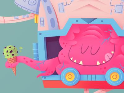 Krang teenage mutant ninja turtles villain brain monster alien blob robot ice cream