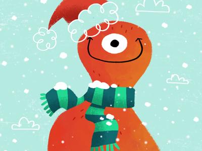 Merry Christmas christmas holiday season monster santa snow scarf